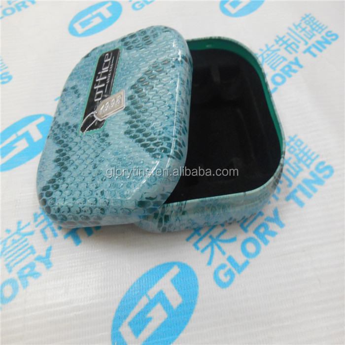 elegant small rectangular shape tin box for unguent container