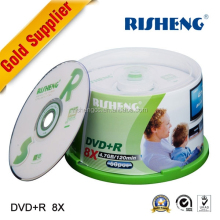 favorable price RISHENG verbatim dvd +r 8x 4.7GB blank media with printed and blank dvd disc logo printing for sale