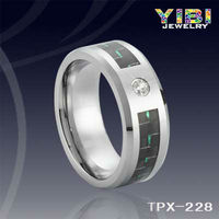 Brand Imitation Jewellery Carbon Fiber inlay Mens Tungsten Carbide Rings Brushed Notched