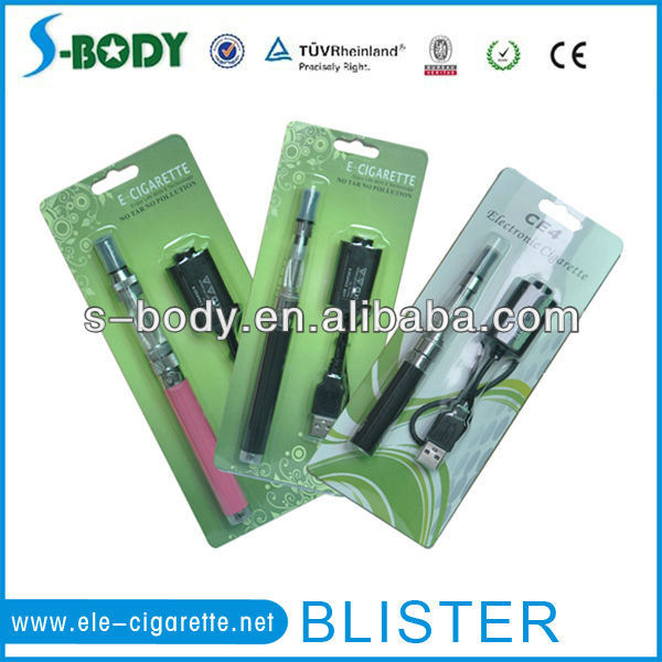 high quality clearomizer ce4 / ce5 510 t e-cigarette blister packs retail blister pack