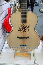 fully handmade solid wood hollow body acoustic jazz guitar