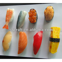 Japanese plastic fake/artificial SUSHI food model in real size/Sushi keychains/keyrings