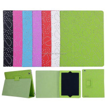 Hot selling for ipad air case, for ipad air 2 leather flip stand case retro style glitter bling bling