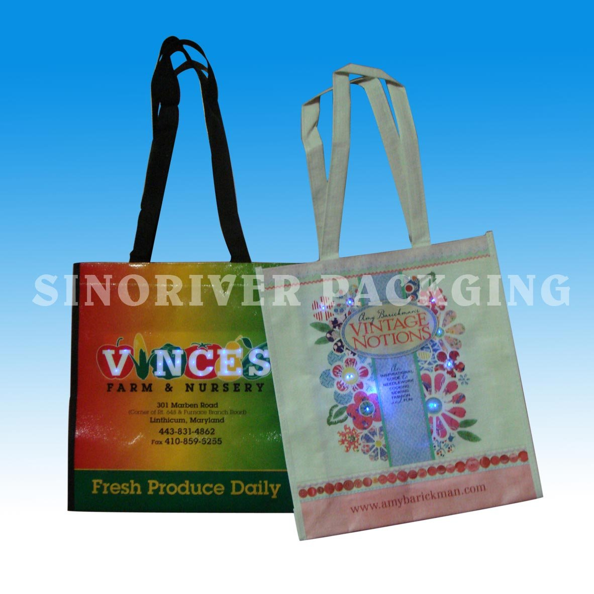 Gift bag with LED light