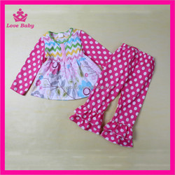 Mixed Stylish Patterns Fashional Chevron Floral, Polka dots Long Style Kids Spring Autumn Clothes Bulk Wholesale Clothing