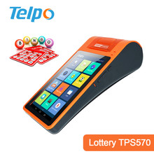 ODM Pos Supplier 7'' HD Screen Android Pos desktop Betting Terminal with controlador fiscal, supporting pos model TPS570