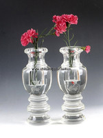 terrarium flower glass vase crystal round clear glass vase for flower