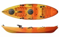 Low Cost Paddle & Seat Included Kayak Set 1 Paddler Fishing Canoe Kayak