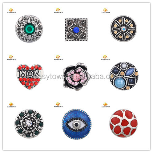Fashion Snaps Jewelry Snap Button 20mm Leather Jewelry Accessories