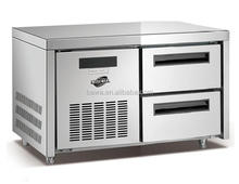 stainless steel commercial chef base / counter refrigerator for 1/1GN pan Model POLO-2