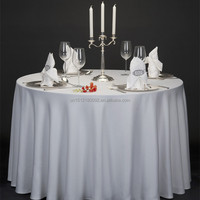 high quality Spun polyester table cloth for banquet hotel