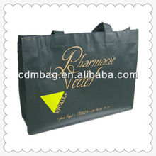 2013 Black printing PP non woven shopping bag matt lamination tote bag