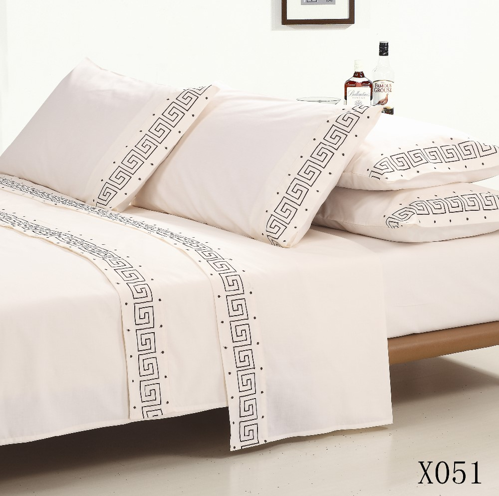 KOSMOS Nantong new polycotton hand embroidery designs for bed sheets