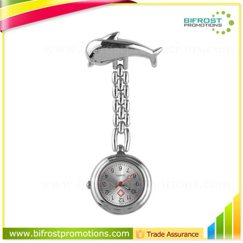 Dolphin Shaped Promotions Medical Gift Brooch Nurse Watch
