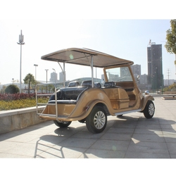 Newest CE certificate Electric classic car 6 seater golf cart for sightseeing / estate company