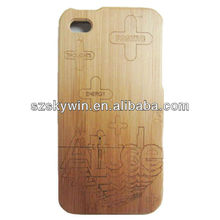 Wholesale Bamboo Case For samsung galaxy s4 i9500 , for samsung galaxy s4 Wood Case
