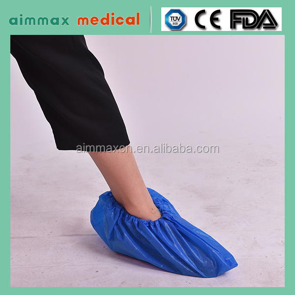 Blue colour disposable pe snow cover for shoes