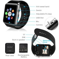 ce rohs android dual sim bluetooth smart watch