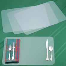 Custom Transparent Placemat Disposable Clear Plastic Table Mat For Kids