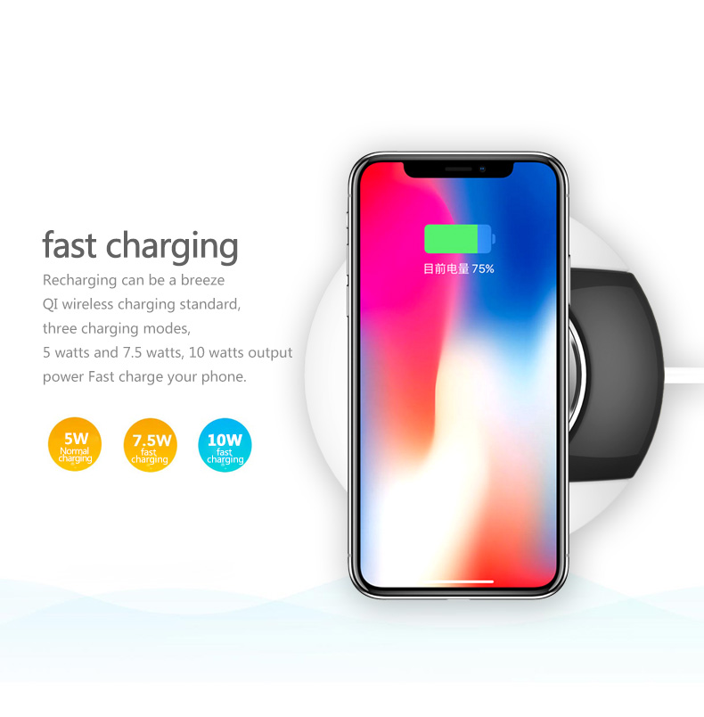 Hot selling Fast delivery Universal cell phone Wireless induction Charger for iPhone X iPhone 8 X samsung s7/s8/s9 for Huawei