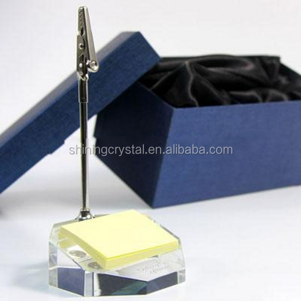 crystal Memo Clips Desktop Memo Holder