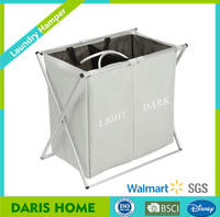 Pure Color Simple Folding Cloth Laundry Basket, Basket For Laundry