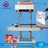 continous plastic bag food vacuum sealer machine ink continuous band sealing machine with factory price