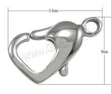 14x9x4mm Heart Stainless Steel Lobster Claw Clasp 450316