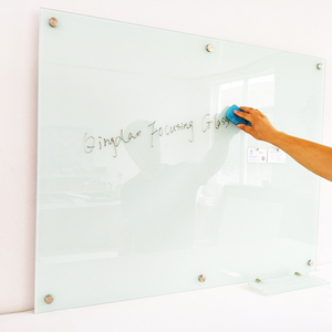 "large size 48""x60"" Magnetic tempered glass Whiteboard with 12 pcs strong magnets"