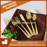 New Arrival China supply type gold plated flatware with Good quality