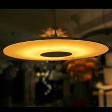 Modern UFO Thin Disk White color Aluminum Glass pendant lamp for Dinning Room