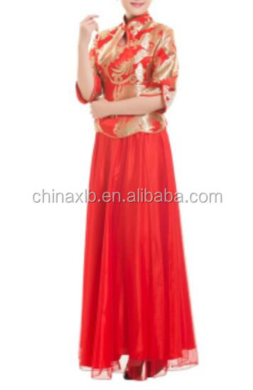 Reception welcome clothing, opening ceremony cheongsam banquet performances, welcome sleeve uniforms