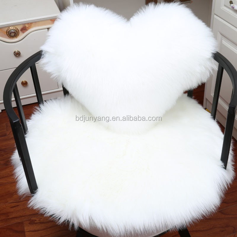 China supplier Faux Fur Chair Cushion Cover Faux Fur Cushion
