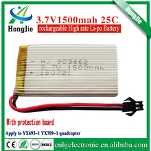 rechargeable rc 903462 lipo battery 3.7v 1500mah for toy car rc helicopter drone