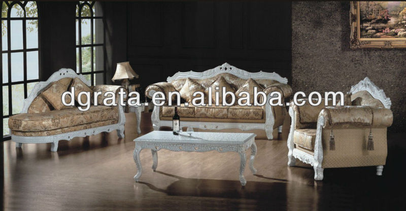 2013 ornate sofa suite was made from rubber wood +high-density foam+ fabric