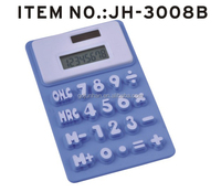 8 digital solar electronic folder silicone electronic calculator