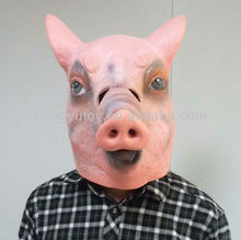 dresses new fashion Halloween King costume latex party pig mask