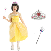 Beautiful Belle Princess Kids Fancy Dress Royalty Fairytale Girls Book Costume
