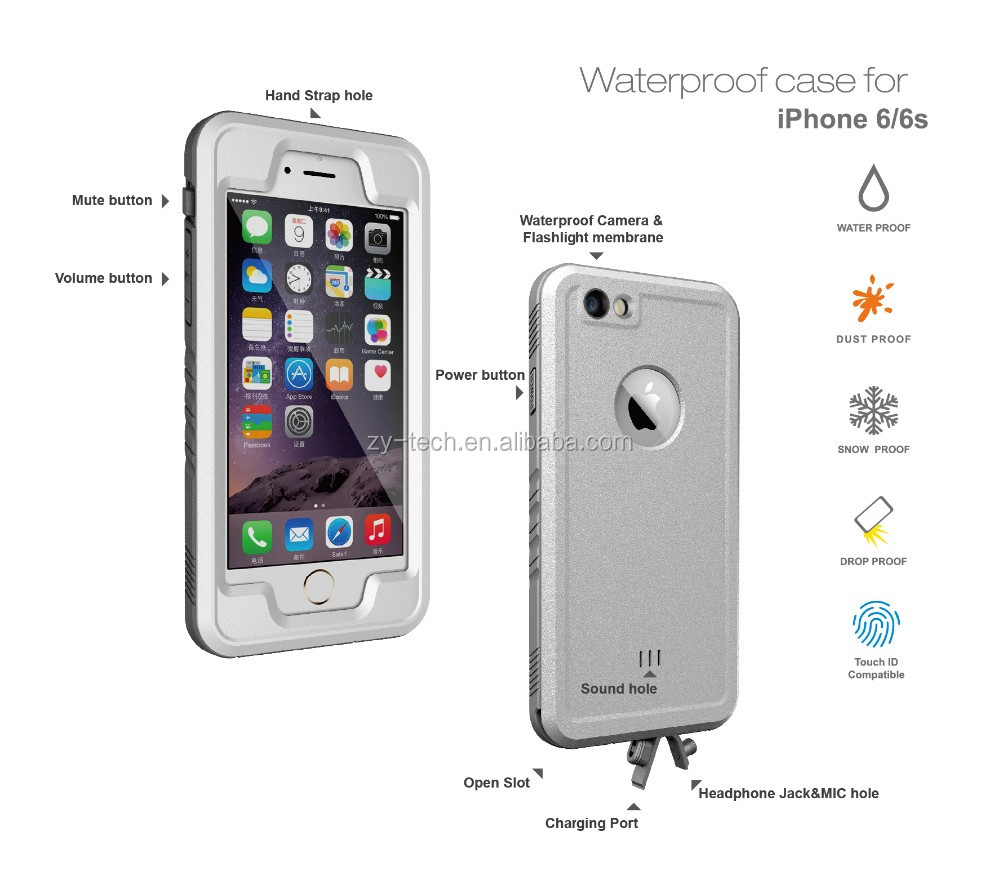 2016 best sell universal waterproof phone case for swimming multifunction case for Iphone 6 6S