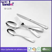 Customized logo/material/thickness/packing of s/s flatware set, 84 pieces stainless steel cutlery set with classic cutlery image