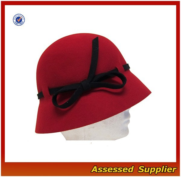 XJ0734/Custom wool felt cloche hat / wool hat cloche hat wholesale