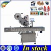 Trade assurance Full automatic flat label machine,top labeling machine(have video)