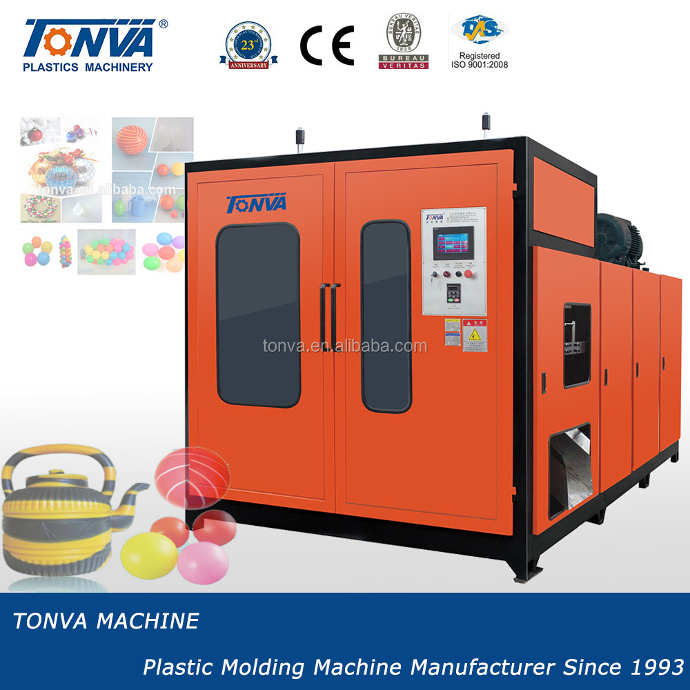 TONVA double station plastic ball extrusion blowing making machine