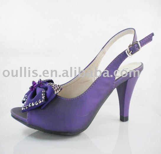 Fashion ladies high heel in stock from Guangzhou