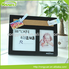Promotional office classroom two photo frames wooden combo board