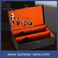 hot sell wooden wine box gift 2 bottles cardboard wine box carrier