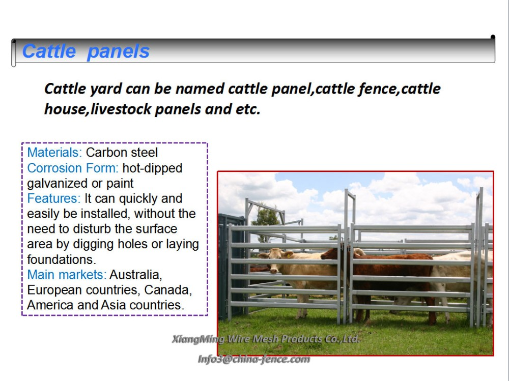 horse fence panels / livestock corral panels / cattle fence panel