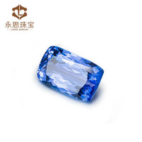 Gemstone Natural Stone 13.42ct Emerald Cut 18x11mm Blue Natural Tanzanite Loose Stone , Wholesale Natural Stone Price
