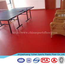 rubber flooring made in China laminate flooring plastic floor for table tennis basketball volleyball badminton