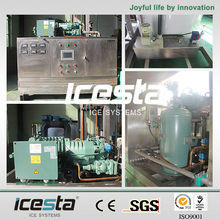 ICESTA 10 Ton Heavy-Duty Edible Flake Ice Machine food grade stainless steel ice flaker maker